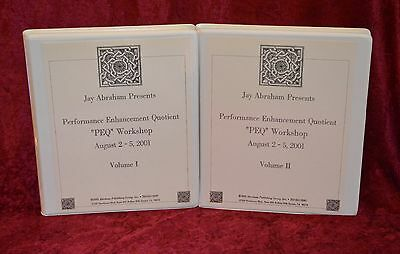 29 Cassette Jay Abraham Performance Enhancement Quotient PEQ Workshop Vol 1 & 2