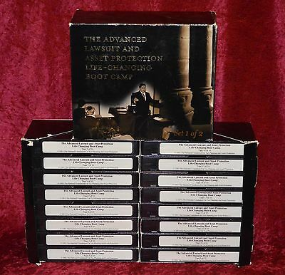 16 Videos THE ADVANCED LAWSUIT AND ASSET PROTECTION LIFE CHANGING BOOT CAMP VHS