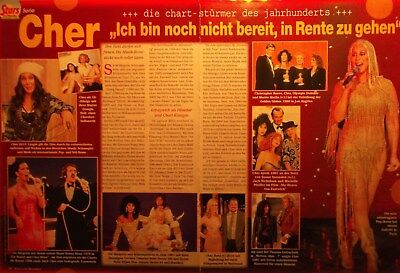 2 german clipping CHER SINGER SONNY N. SHIRTLESS GAY INT. BOYS BOY GROUP BAND