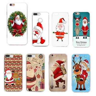 For iPhone 7 6 6s plus 5 Huawei P10 Phone Case Soft TPU Christmas Pattern Cover