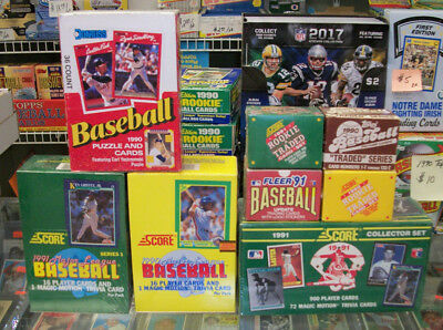 (8) Baseball Sealed Boxes-Factory Sets-Traded Sets Lot