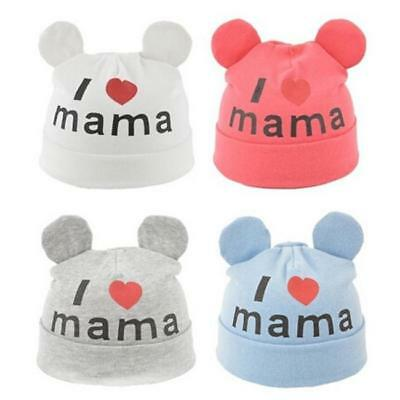 I love Mama Cute Beanie Cap Toddler Kids Baby Boy Girl Soft Warm Cotton Hat LC