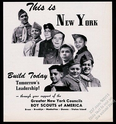 1946 Boy Scouts of America New York City council scouts photo vintage print ad