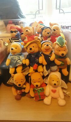 Disney collectable beanies Winnie the pooh bundle of 15    1p start