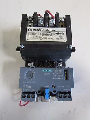 Siemens Size 1 Starter 14Du†32A*  W/ 3Ub8123-4Cw2 120V Coil   Make Offer