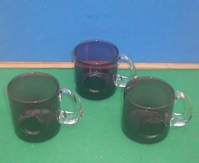 3 Wedgwood Amethyst Glass Tankards  (1 Pint)