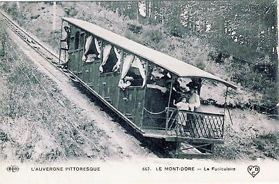 63  Cpa Animee - Le Mont Dore -Le Funiculaire