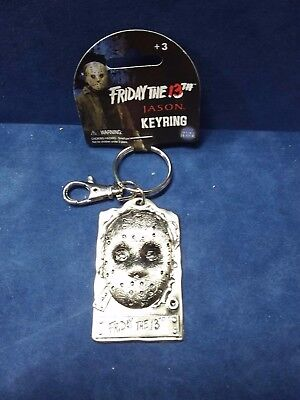 Jason Hockey MASK METAL KEYCHAIN KEYRING  Friday The 13th NWT