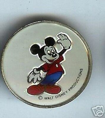 MICKEY MOUSE pin HOLOGRAM pinback button