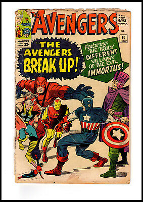 1964 Marvel Avengers #10 First Appearance Of Immortus