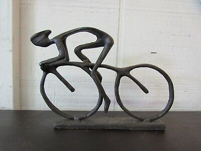 """Bicycle Racer figure cast Iron 7"""" by 4"""""""