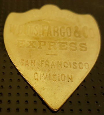 Wells Fargo Shield San Francisco USA Gold Lustre Coin Americana Antique Unknown