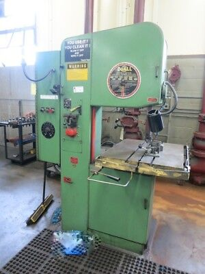 "DoAll Model 2012-A 20"" Vertical Metal Band Saw w Blade Welder, 1"" Capacity"