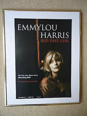 Emmylou Harris Music Poster 2000 Red Dirt Girl Unreleased To Public Poster Mint