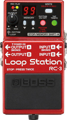 NEW Boss RC-3 Loop Station PEDAL Effects Looper 3 Hrs!+ Drums+ USB 2.0 Stompbox