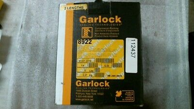 """Garlock 8922 1/4"""" Synthetic Compression Packing - 60 day warranty   NIB 5 Pounds"""