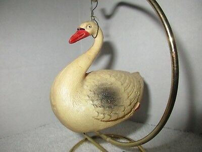 Vintage Celluloid Swan Christmas Ornament Holiday Decorations