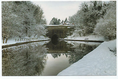 (P1034) Chirk Canal Basin & Tunnel in Winter. IWA larger size postcard