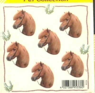 Horse Stickers SHETLAND PONY set of 12 Mini Stickers