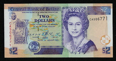 BELIZE (P60a) 2 Dollars 1999 UNC