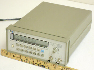 HP Agilent 5384A 10Hz-225MHz 2-Channel Reciprocal Frequency Counter 9-digits/sec
