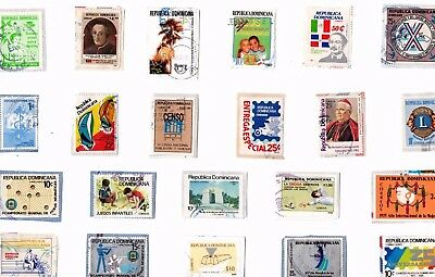 A  Fresh  Selection Of Kiloware Stamps From The Dominican Republic