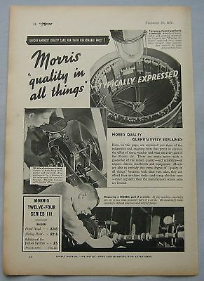 1937 Morris Twelve-Four Series III Original advert