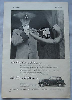 1950 Triumph Renown Original advert No.1