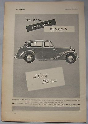 1949 Triumph Renown Original advert