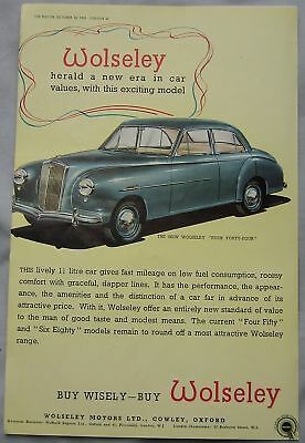 1952 Wolseley Four Forty-Four Original advert