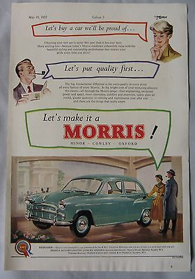 1955 Morris Original advert