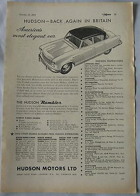 1955 Hudson Rambler Original advert
