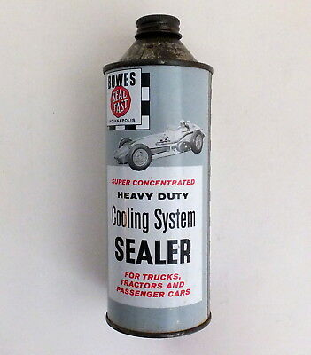 Rare  AJ Foyt  Bowes  Full Tin Can  Cooling System Sealer