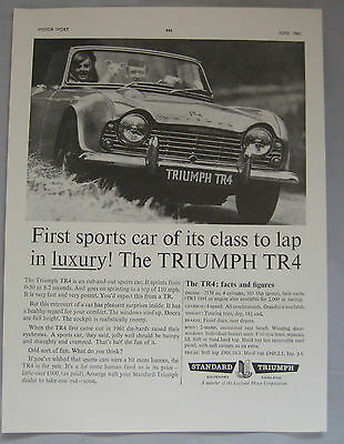 1963 Triumph TR4 Original advert