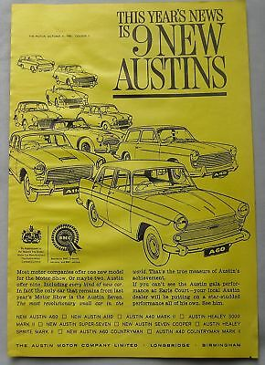 1961 Austin range Original advert