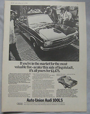 1969 Audi 100LS Original advert