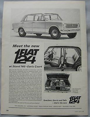 1966 Fiat 124 Original advert
