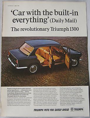 1968 Triumph 1300 Original advert