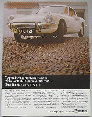 1968 Triumph Spitfire Mark 3 Original advert