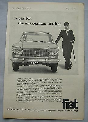 1962 Fiat 1500 Original advert