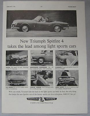 1963 Triumph Spitfire 4 Original advert
