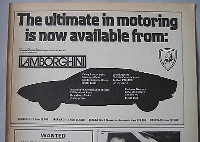 1974 Lamborghini Original advert