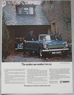 1969 Triumph Herald 13/60 Original advert No.2