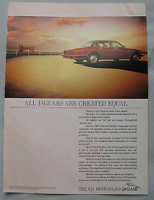 1990 Jaguar XJ6 Original advert