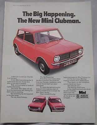 1970 Mini Clubman Original advert