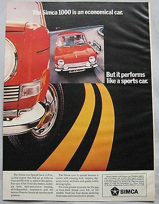 1970 Simca 1000 Original advert