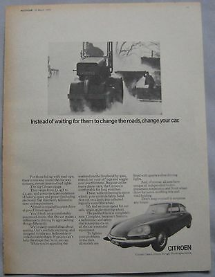 1970 Citroen Original advert