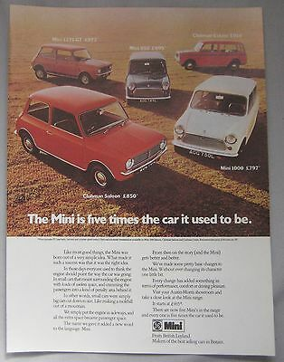 Mini range Original advert