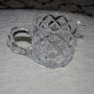 Vintage Pressed Glass Child's Doll or Bear Small Pitcher or Creamer