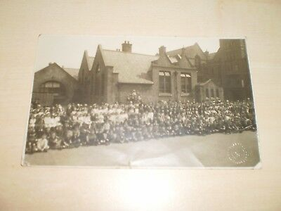 1920 Real Photo Postcard Of Liverpool Lawrence Road School Wavertree Empire Day